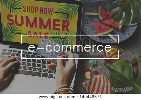 E-commerce Business Connecting Data Digital Concept