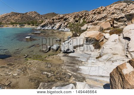 Blue Waters of kolymbithres beach, Paros island, Cyclades, Greece