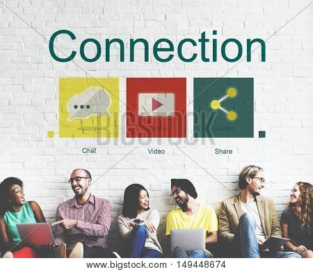 Connection Social Network Internet Concept