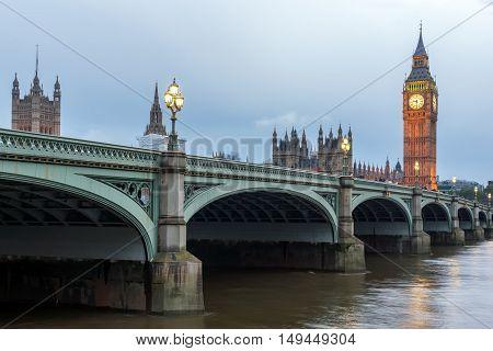 Amazing Night photo of Westminster Bridge and Big Ben, London, England, United Kingdom