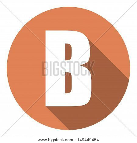 Letter B with a long shadow. Vector illustration EPS10