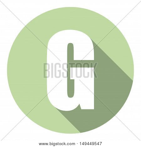 Letter G with a long shadow. Vector illustration EPS10