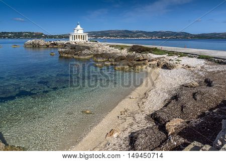Amazing view of Lighthouse of St. Theodore at Argostoli, Kefalonia, Ionian islands, Greece