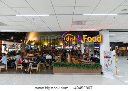 Food Court Inside The Departures Area Of Don Mueang International Airport In Bangkok, Thailand.