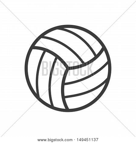 Volleyball ball icon. Volleyball ball Vector isolated on white background. Flat vector illustration in black. EPS 10