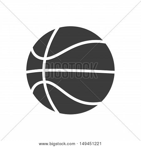 Basketball ball icon. Basketball ball Vector isolated on white background. Flat vector illustration in black. EPS 10