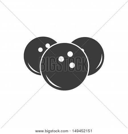 Bowling ball icon. Bowling ball Vector isolated on white background. Flat vector illustration in black. EPS 10
