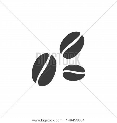 Coffee beans icon. Coffee beans Vector isolated on white background. Flat vector illustration in black. EPS 10