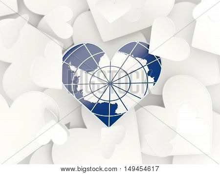 Flag Of Antarctica, Heart Shaped Stickers