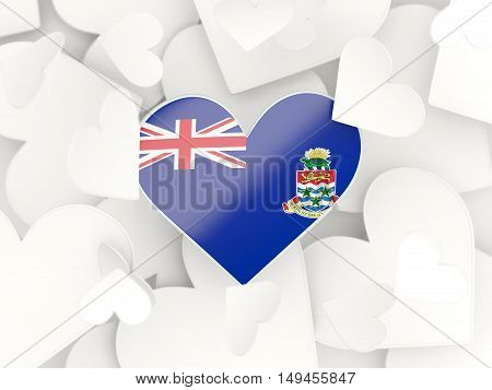 Flag Of Cayman Islands, Heart Shaped Stickers