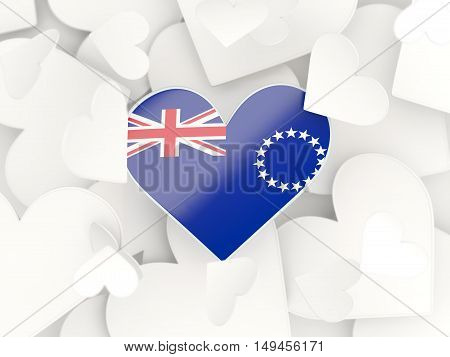 Flag Of Cook Islands, Heart Shaped Stickers