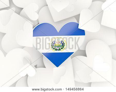 Flag Of El Salvador, Heart Shaped Stickers