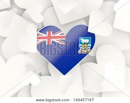 Flag Of Falkland Islands, Heart Shaped Stickers