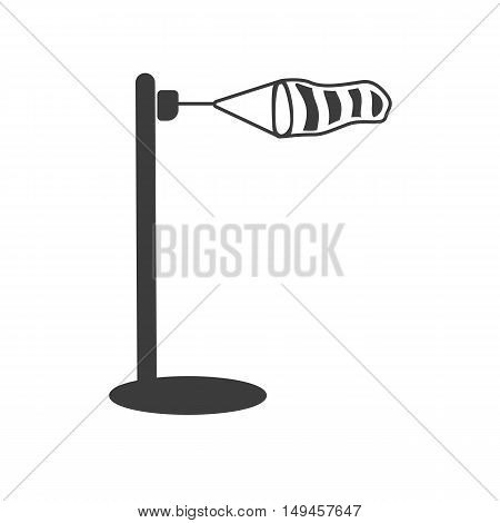 Wind measurement icon. Wind measurement Vector isolated on white background. Flat vector illustration in black. EPS 10