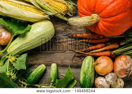 Fresh rustic natural vegetables