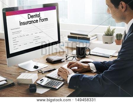 Dental Insurance Health Form Concept