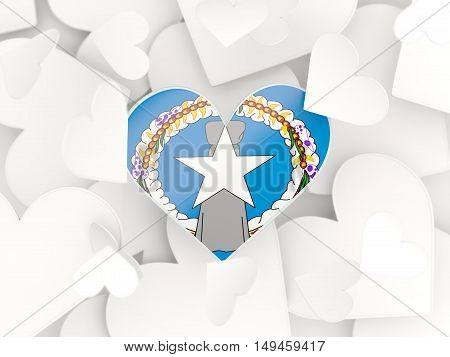 Flag Of Northern Mariana Islands, Heart Shaped Stickers