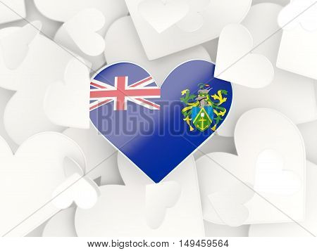 Flag Of Pitcairn Islands, Heart Shaped Stickers