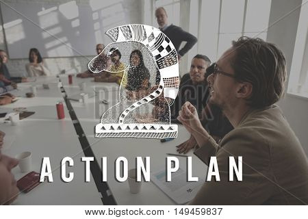 Action Plan Active Business Inspiration Vision Concept