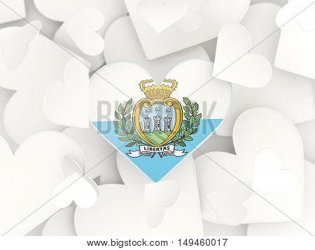 Flag Of San Marino, Heart Shaped Stickers