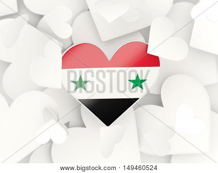 Flag Of Syria, Heart Shaped Stickers