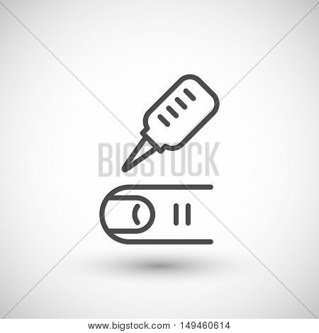 Medical analysis icon isolated on grey. Vector illustration
