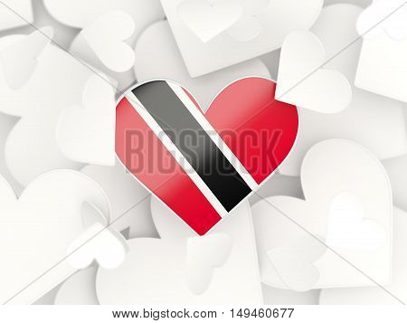 Flag Of Trinidad And Tobago, Heart Shaped Stickers