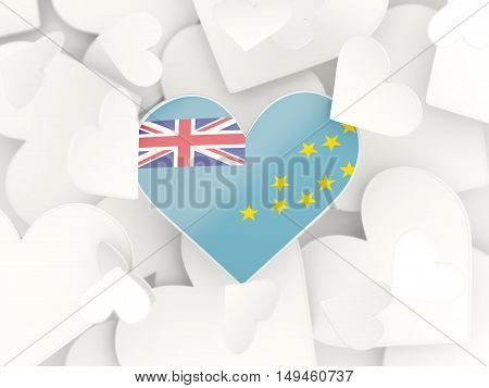 Flag Of Tuvalu, Heart Shaped Stickers