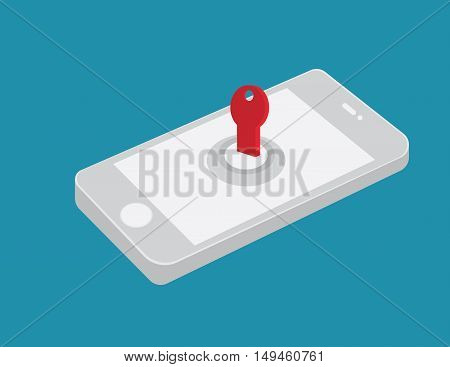 Mobile Hacked Information. Security Of Mobile. Unlocked Phones. Security Floating Disasters Destroye