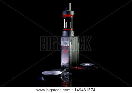 Aged vaping mod. High quality 3d rendering