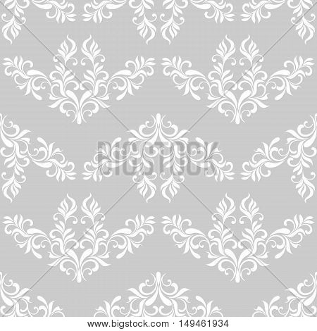 Classic Seamless Pattern On A Gray Background