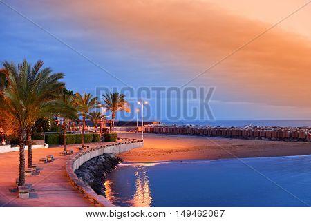 Sunset on Calheta Beach in Madeira Portugal
