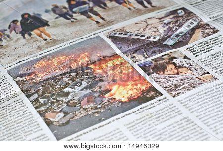 Japanese catastrophe-earthquake & tsunami, in news.