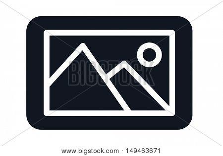 A dark photo icon