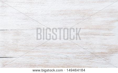 Old threadbare white painted wooden texture, wallpaper and background