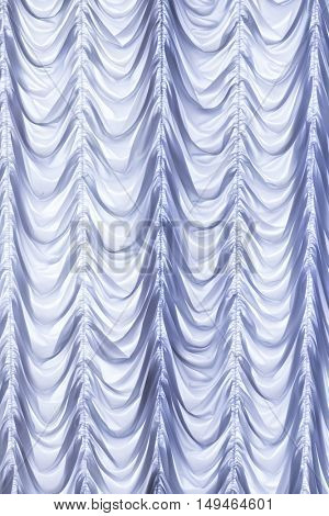 White curtains background.