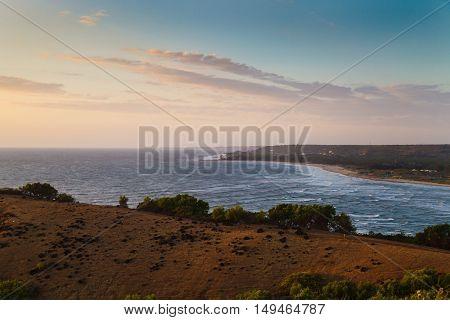 Beauty landscape, coast on sunset. Goa state, India