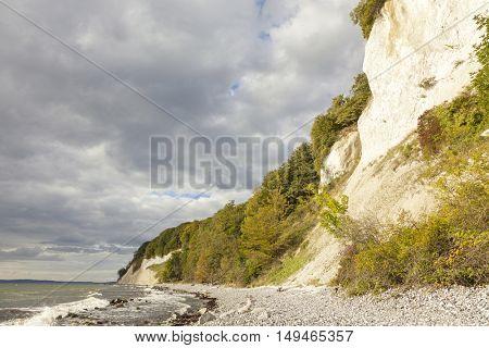 East Coast of Ruegen island with its famous chalk cliffs