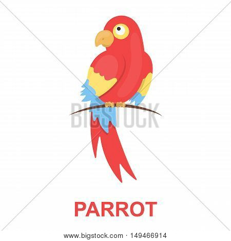 Parrot icon cartoon. Singe animal icon from the big animals collection.