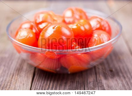 Tomatoes Salty In A Plate