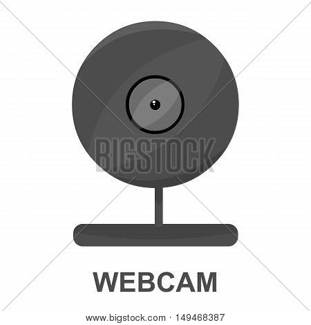 Webcam icon cartoon. Single PC icon from the big technology collection.