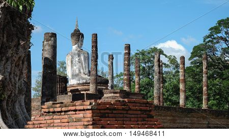 Buddha old archaeological site cultural roots Sukhothai