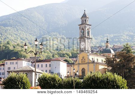 center of сity Edolo, Province of Brescia, Italy, 25 october 2016 year