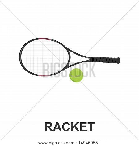 Tennis icon cartoon. Single sport icon from the big fitness, healthy, workout collection.