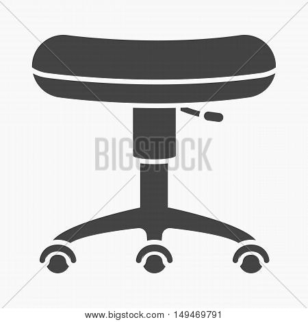 Chair rolling icon cartoon. Single tattoo icon from the big studio collection.