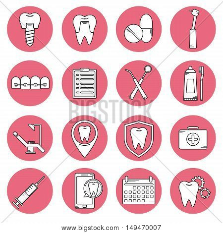 Dental Vector Modern Icon