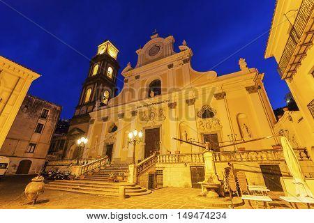 Basilica of St. Trofimena in Minori. Minori Campania Italy