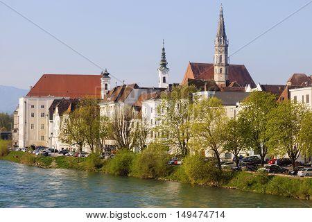 Stadtpfarrkirche in Steyr. Steyr Upper Austria Austria..