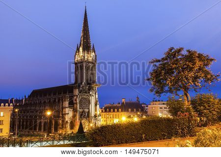 St Peter's Church in Caen. Caen Normandy France.