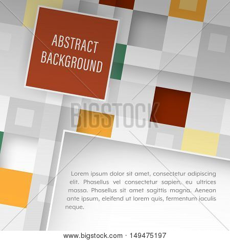 Vector Background With Square Pattern And Place For Your Text.